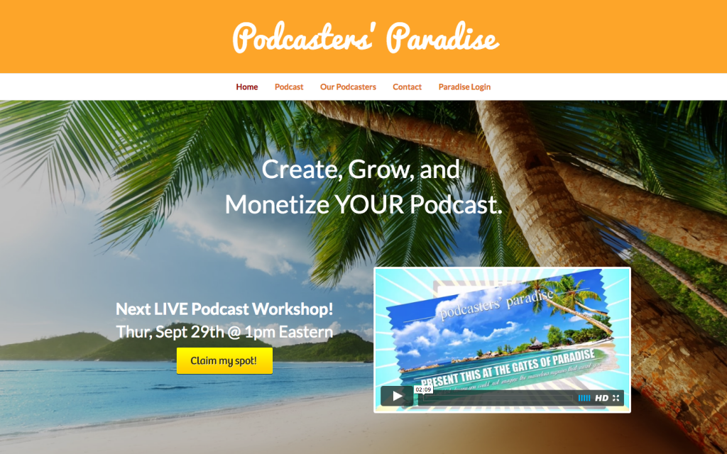 Podcast WordPress theme - http://podcastersparadise.com/