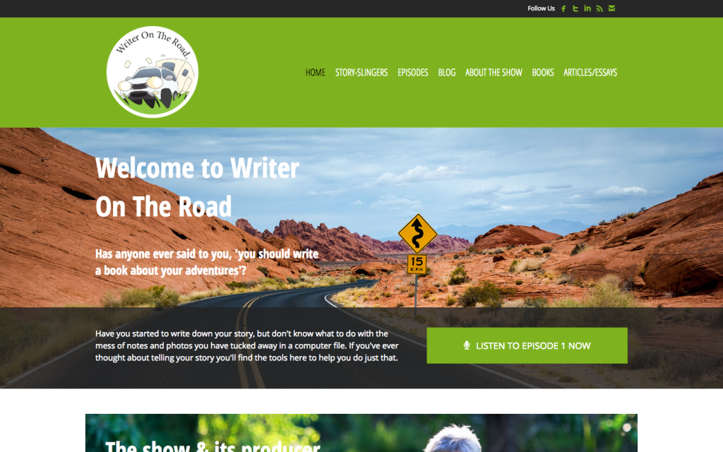 Podcast WordPress theme - http://writerontheroad.com/