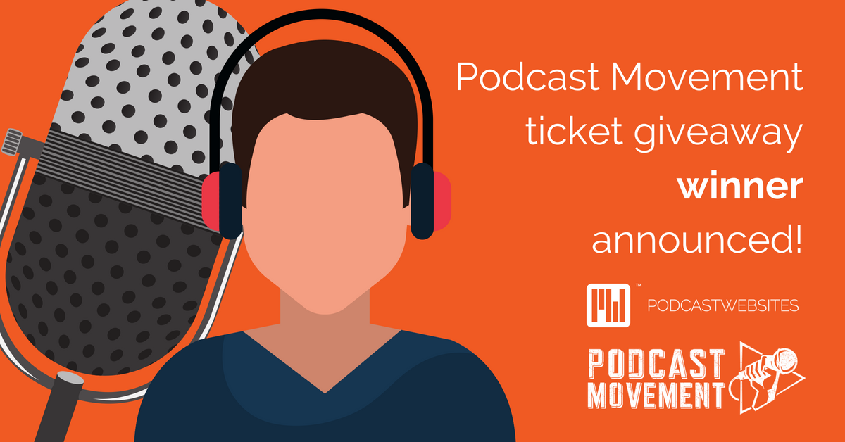 Podcast Movement ticket winner announced cover art